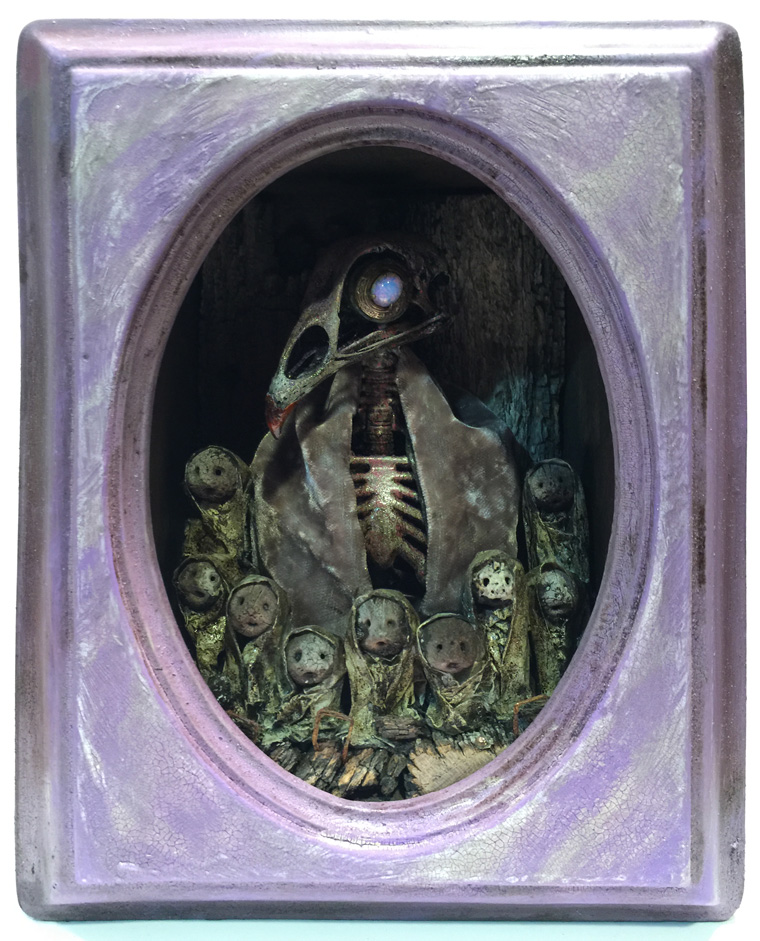 "Krystopher Sapp - Chamberlain Based on ""The Dark Crystal"" Mixed media, 5x7x3.5"" $500"