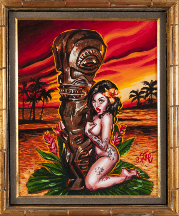 BigToe - Tiki Maiden Acrylic on canvas, 16x20 in. $1200
