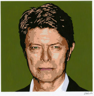 Jim Blanchard - David Bowie No.3Acrylic on Panel, 12x12 in. $750