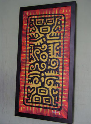 Jim Blanchard - Mexi-Totem Acrylic on panel, 22x11 in. $550