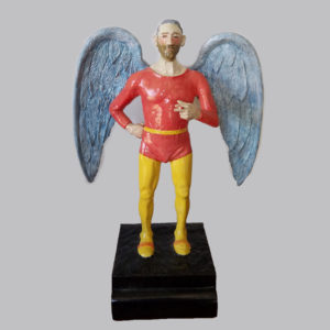 Sonny King - Angel Polymer clay, wood, acrylic paint. 12x7x5 in. $3,000