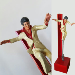 Sonny King - Elvis on a Unicycle Polymer clay, wood, acrylic paint. 16x3.5x3.5 in. $4,000