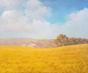 Sonny King - Field of Dreams, Diptych (left) Oil on canvas, 24.125x20.125 in. $3,000 for diptych