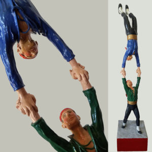 Sonny King - Handstand Polymer clay, wood, acrylic paint. 16x3x3 in. $4,000