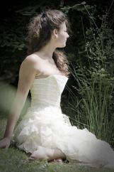 Corsets sur mesures de mariée soie et dentelle ivoire