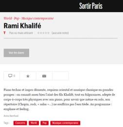 Telerama - Rami Khalife