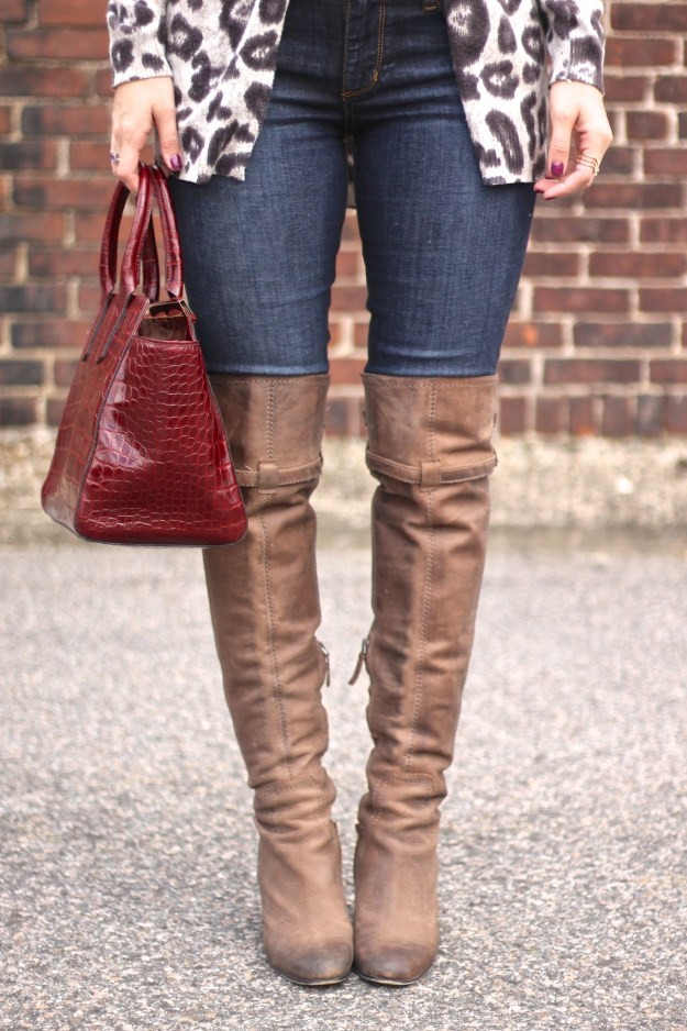 taupe over-the-knee boots