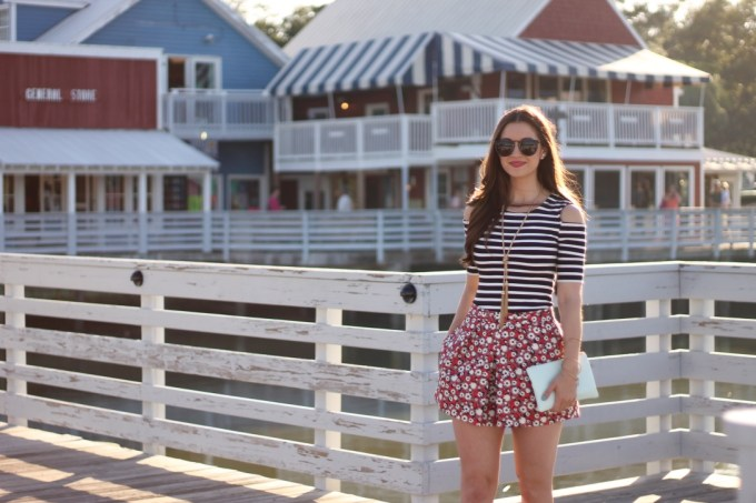 Stripes and Florals on the Pier