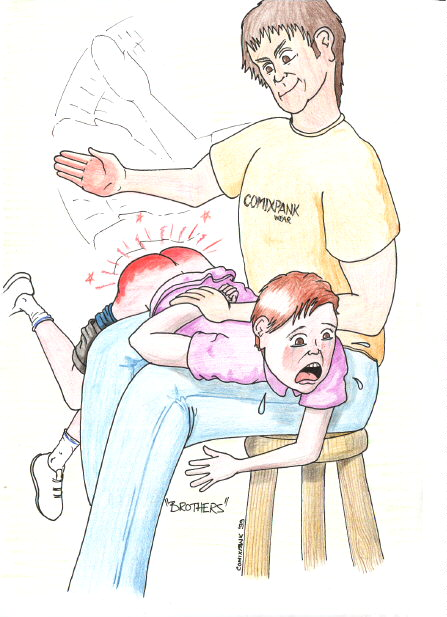 childhood spanking art