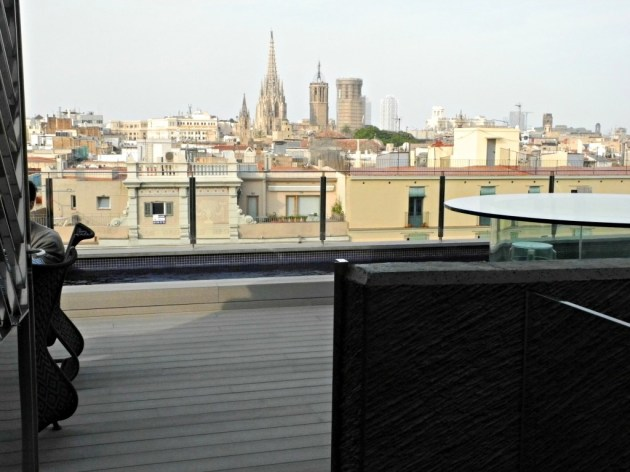 Terraza del Hotel Bagués.