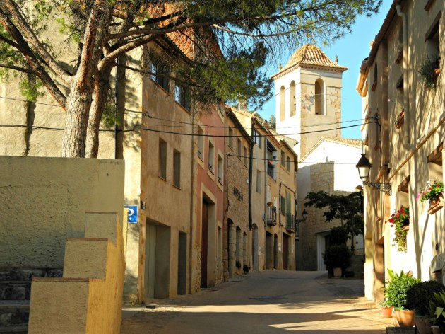 Vista de la Iglesia desde las escaleras del colegio.