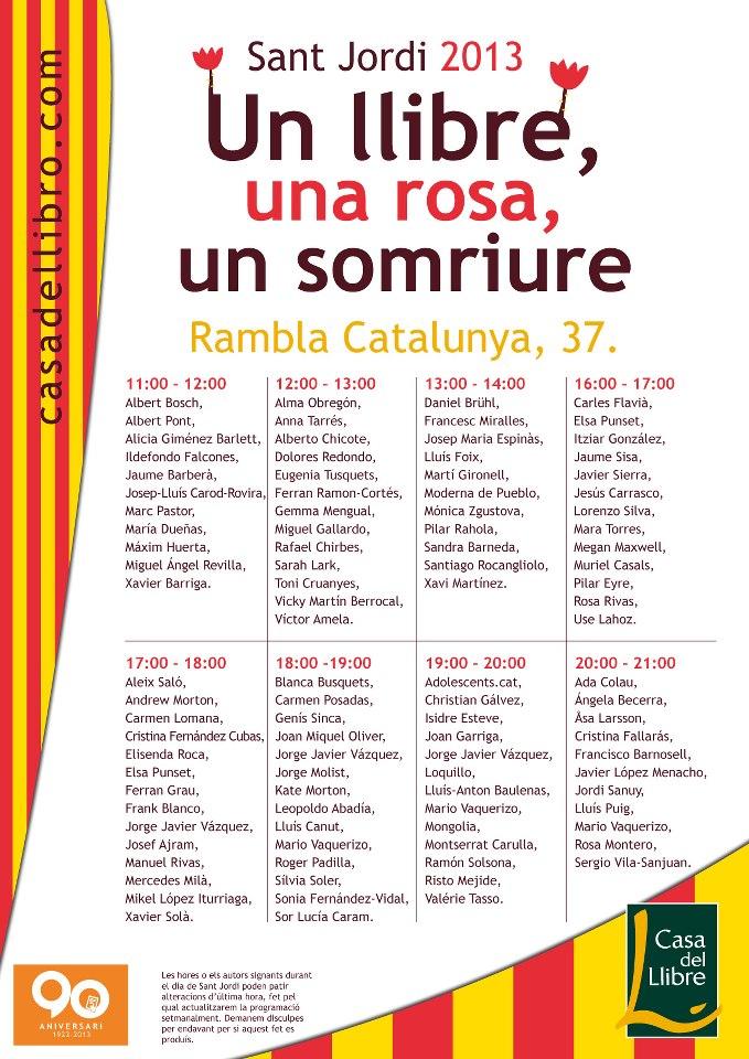 Sant jordi a barcelona la meva barcelona - Casa del libro barcelona rambla catalunya ...