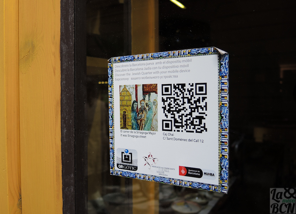 Código QR en un escaparate de el Call