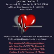 Ciné-Débat: «L'Amour entre chimie et alchimie, une question de choix?» Mercredi 29 Novemvre