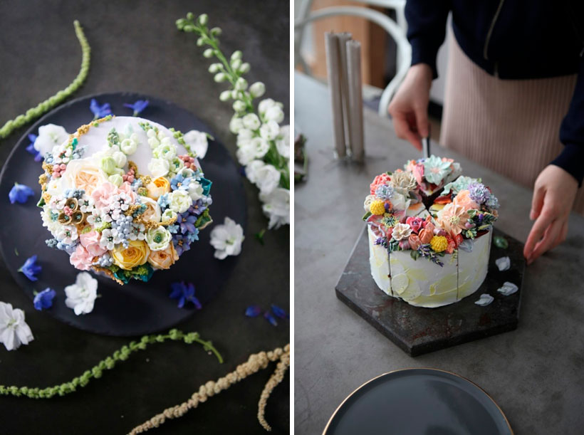 Soocake floral cake decorating