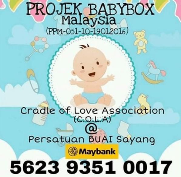 Projek BabyBox , BabyBox Malaysia  , ProjekBabyBoxMalaysia ,BabyBox Project ,  Hebahan ,Amal ,Charity , No Akaun BabyBox
