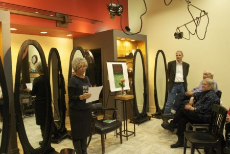 Book reading event takes place at Lance Lappin Salon