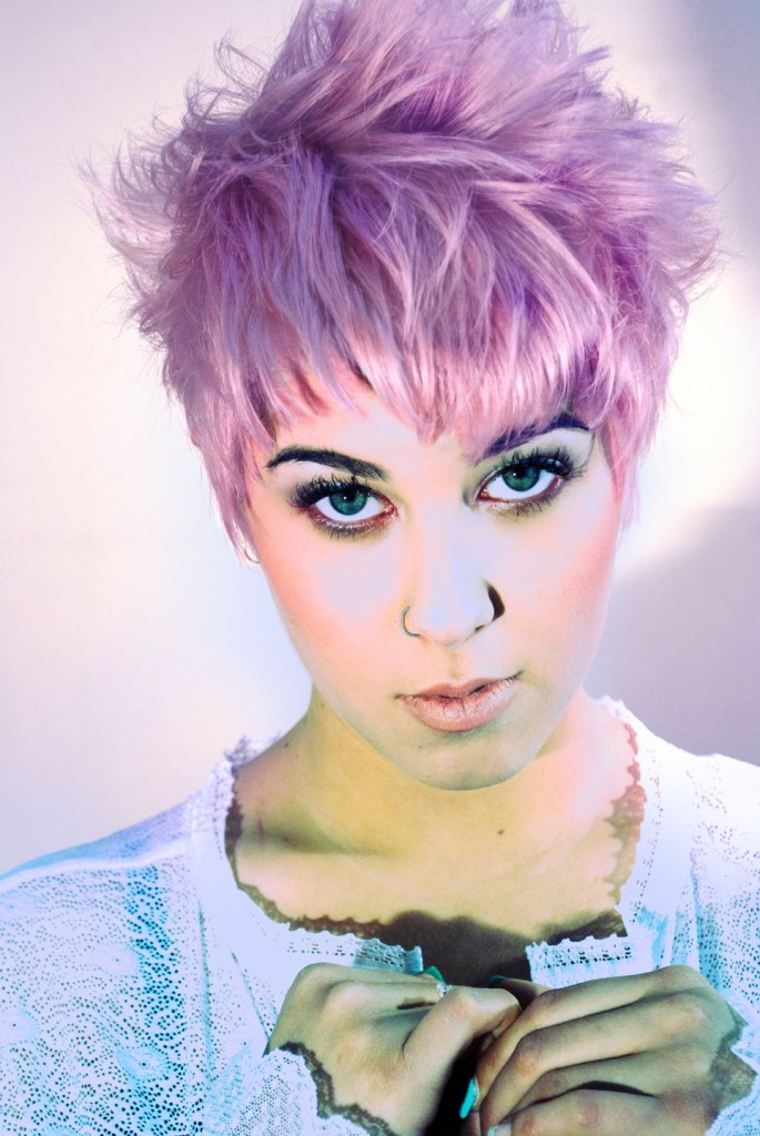 Pastel colored hair
