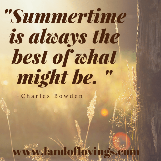 -Summertime is always the best of what might be. -
