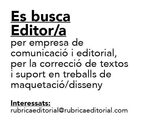 Oferta Laboral: Editor/a