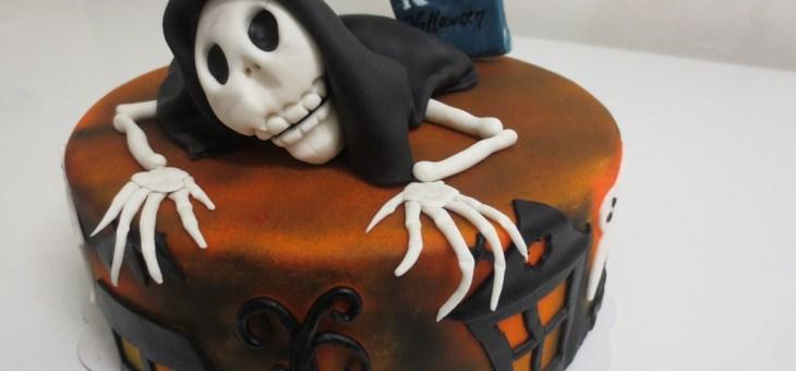 Gâteau squelette pour Halloween
