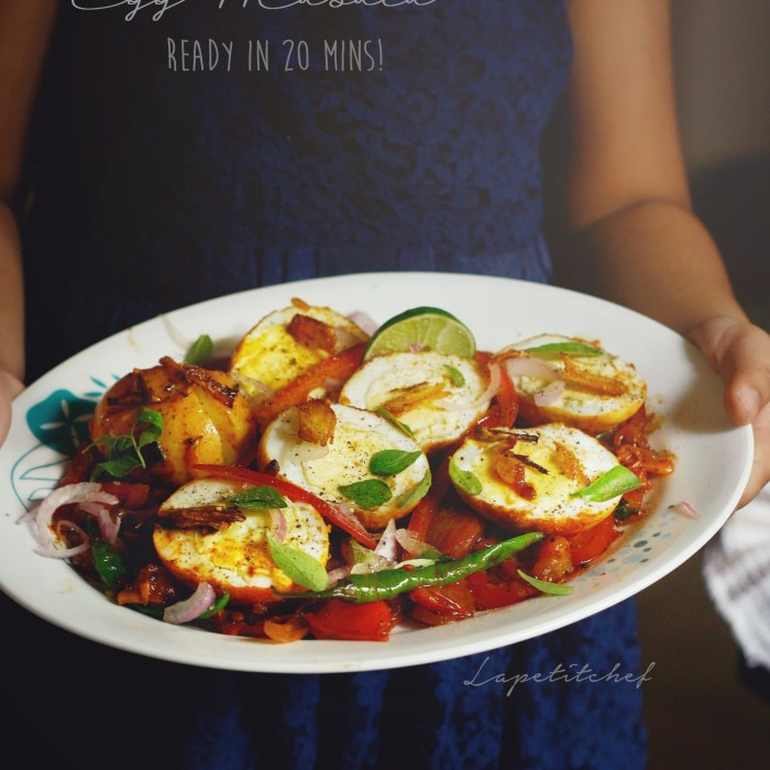 Egg masala stir fry is one of those easy and quick dishes that come together in a matter of minutes and are full with the goodness of everyone's favorite breakfast staple; eggs! Boil eggs the night before to make this delicious breakfast in 10 minutes.