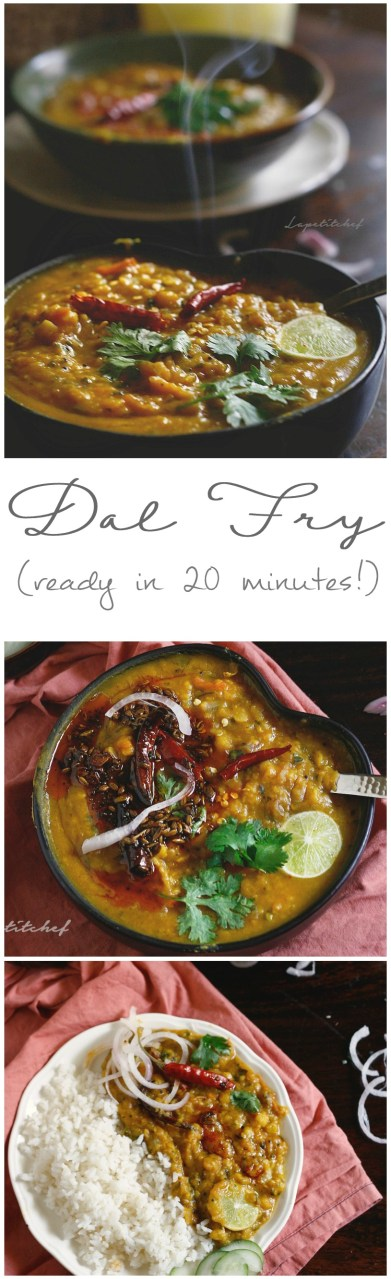 Dal (lentil) fry is a delicious and sumptuous bowl of health that's a daily dish in most Indian homes. This dal fry recipe uses chana dal or split Bengal grams is a thicker and more delicious version of the daily dal. The tempering or tadka takes it to a new high. Serve with rice, some curry or even parathas for a complete meal.