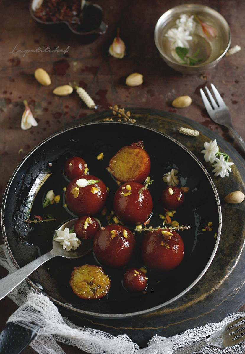 Gulab Jamun (Indian doughtnuts soaked in Old Monk)