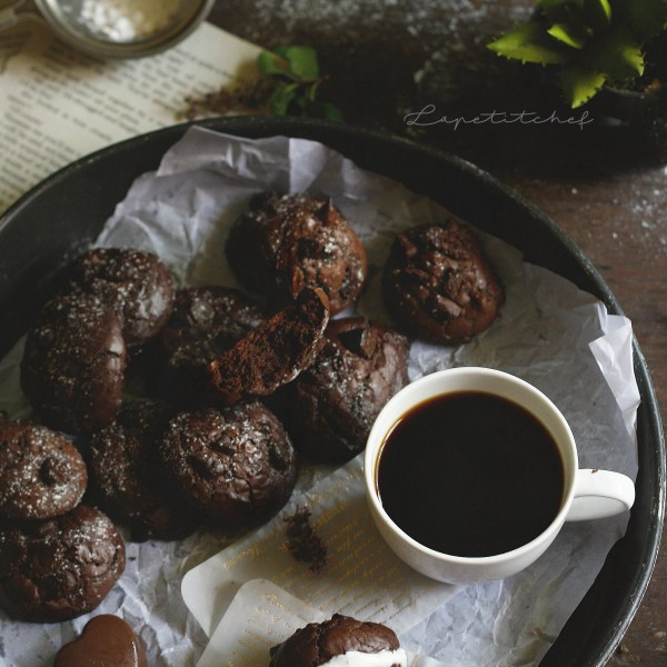Brookies are a cookie that is a mix of chocolate brownies and cookies in one little bite. Extremely chewy in the centre, with a typical brownie crackling top, these brookies are perfect for your midnight snack.