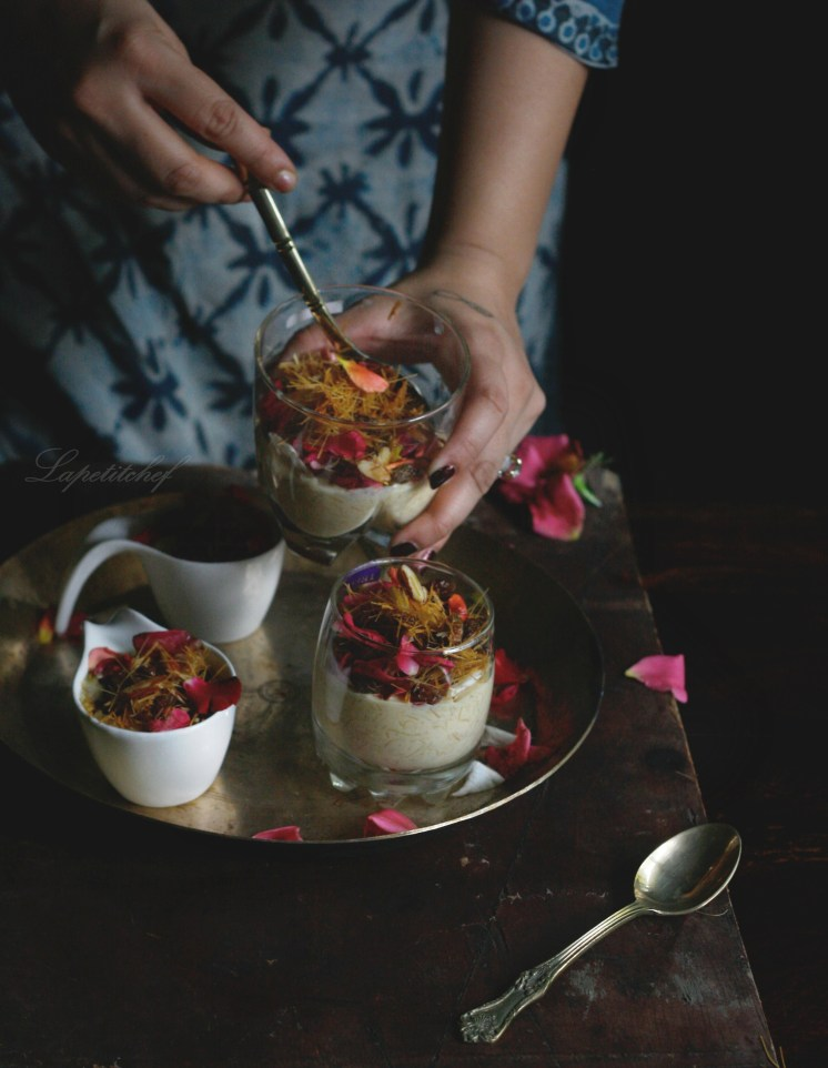 Vermicelli rose water kheer