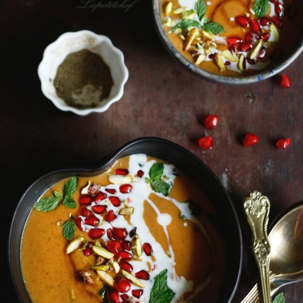 moroccan roasted pumpkin soup