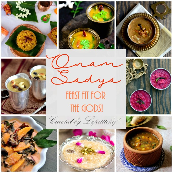 onam sadya curated by Lapetitchef