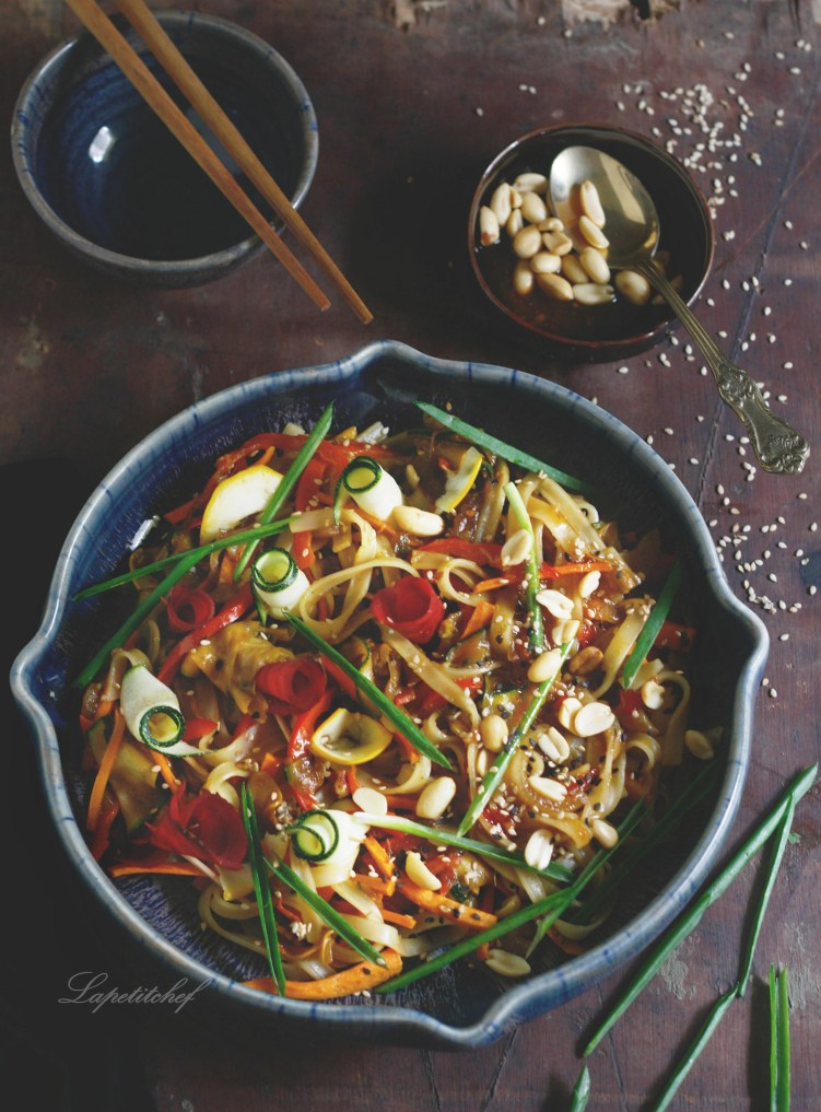 15 mind Pad Thai with shaved zucchini