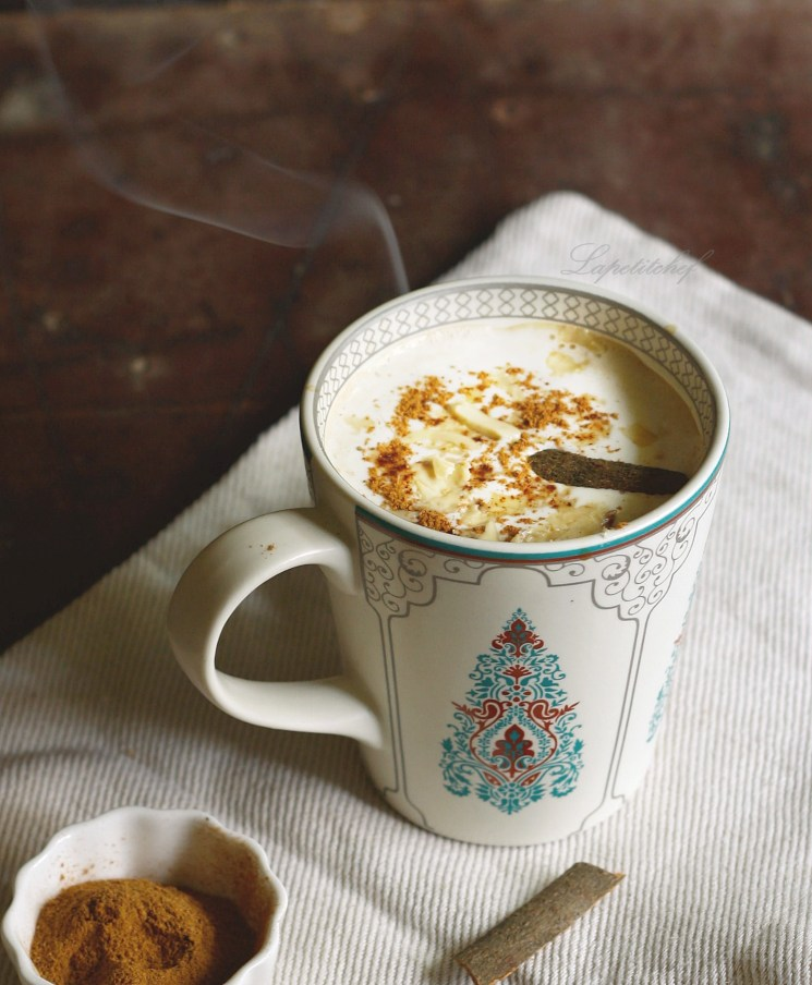 pumpkin spice white chocolate latte