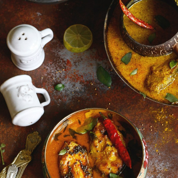 fish curry in a light mustard sauce