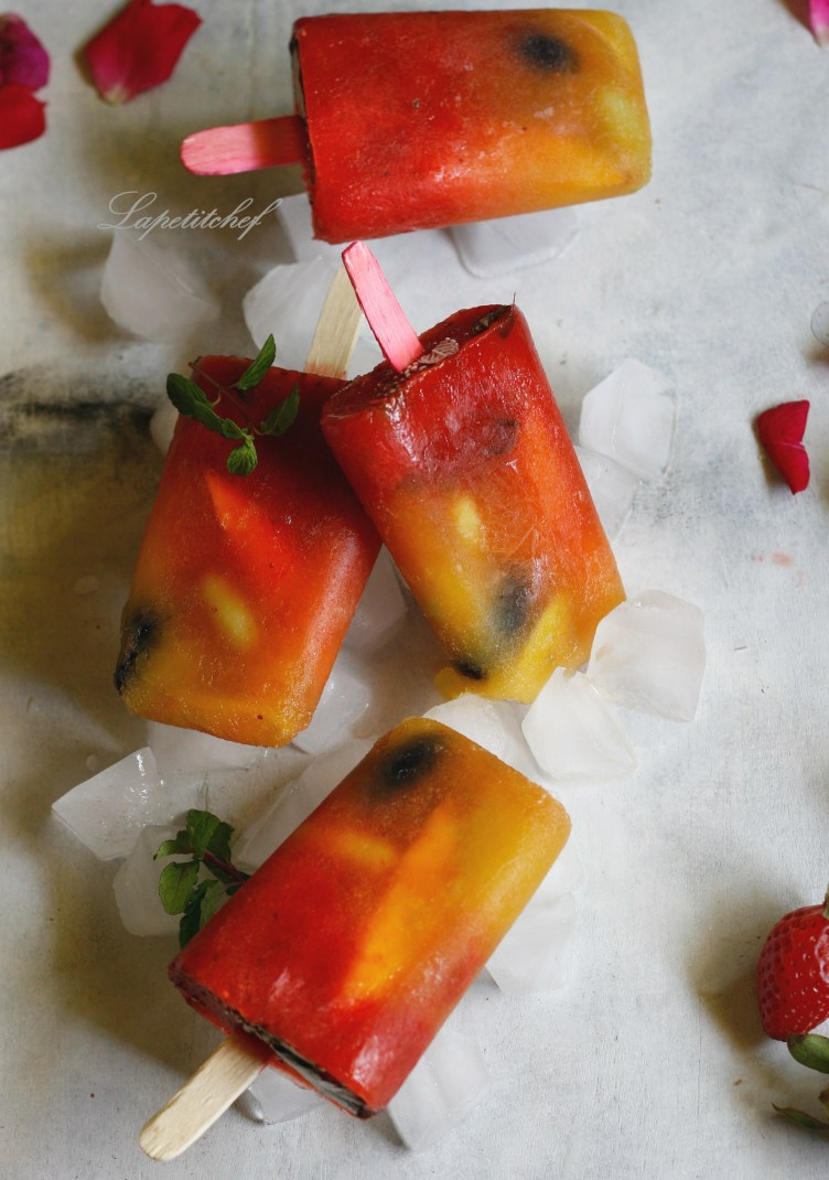 mixed fruit popsicles