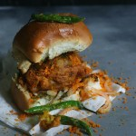 spicy Indian vegan potato burger