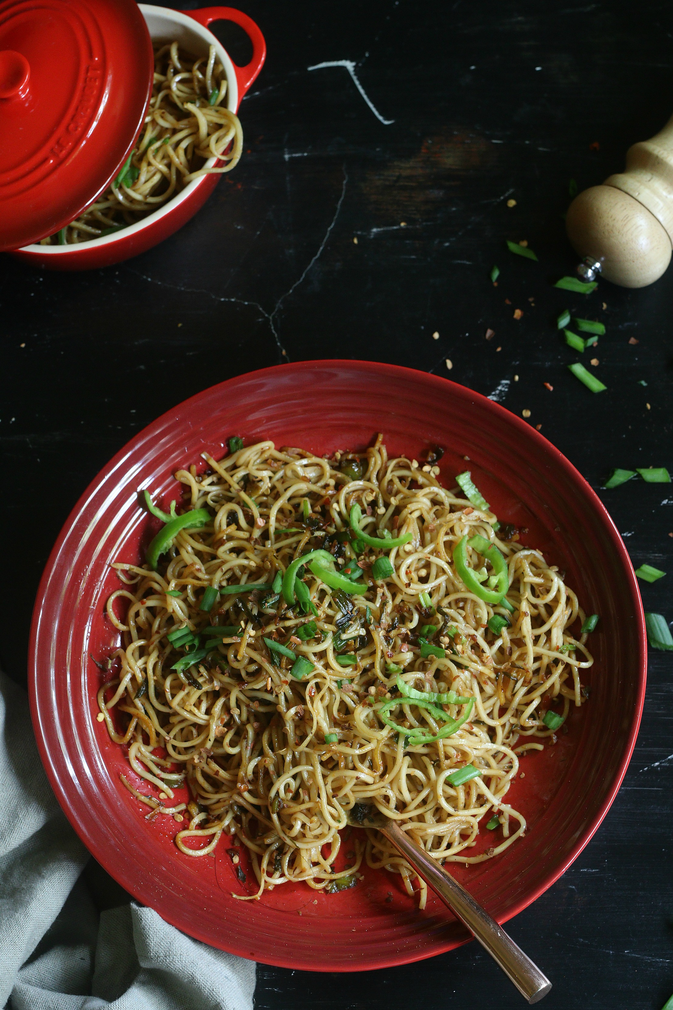 Garlic infused butter noodles
