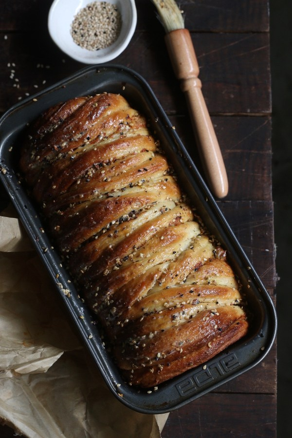 Spiced cheesy brioche