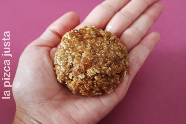 Bola galleta de avena
