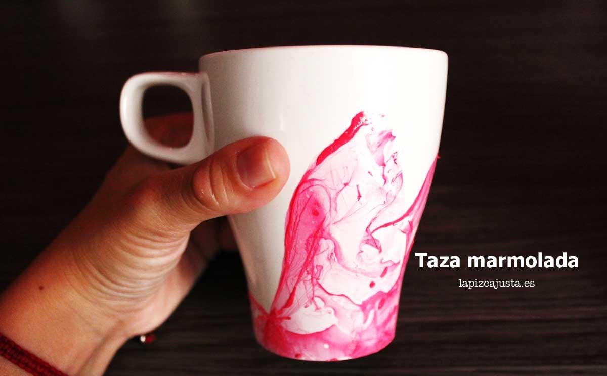 Personalizar una taza con efecto marmolado