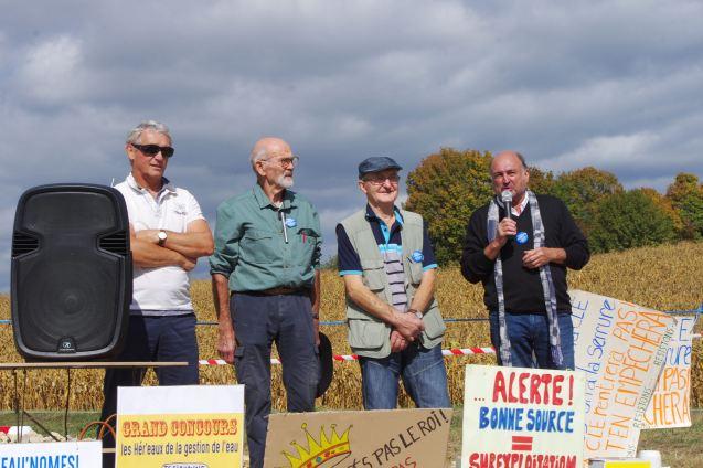 Jean-François Fleck, Hubert Thiébaut, Jean-Marie Chevrier et Bernard Schmitt (de g. à dr.).