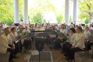 Les musiciens de l'Harmonie de Vittel.