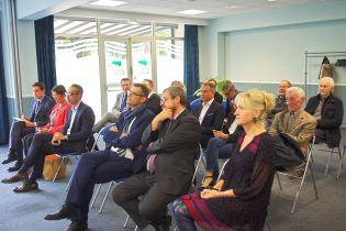 Les représentants des divers Palais des congrès lorrains et les personnalités locales étaient présents pour cette passation de pouvoir.