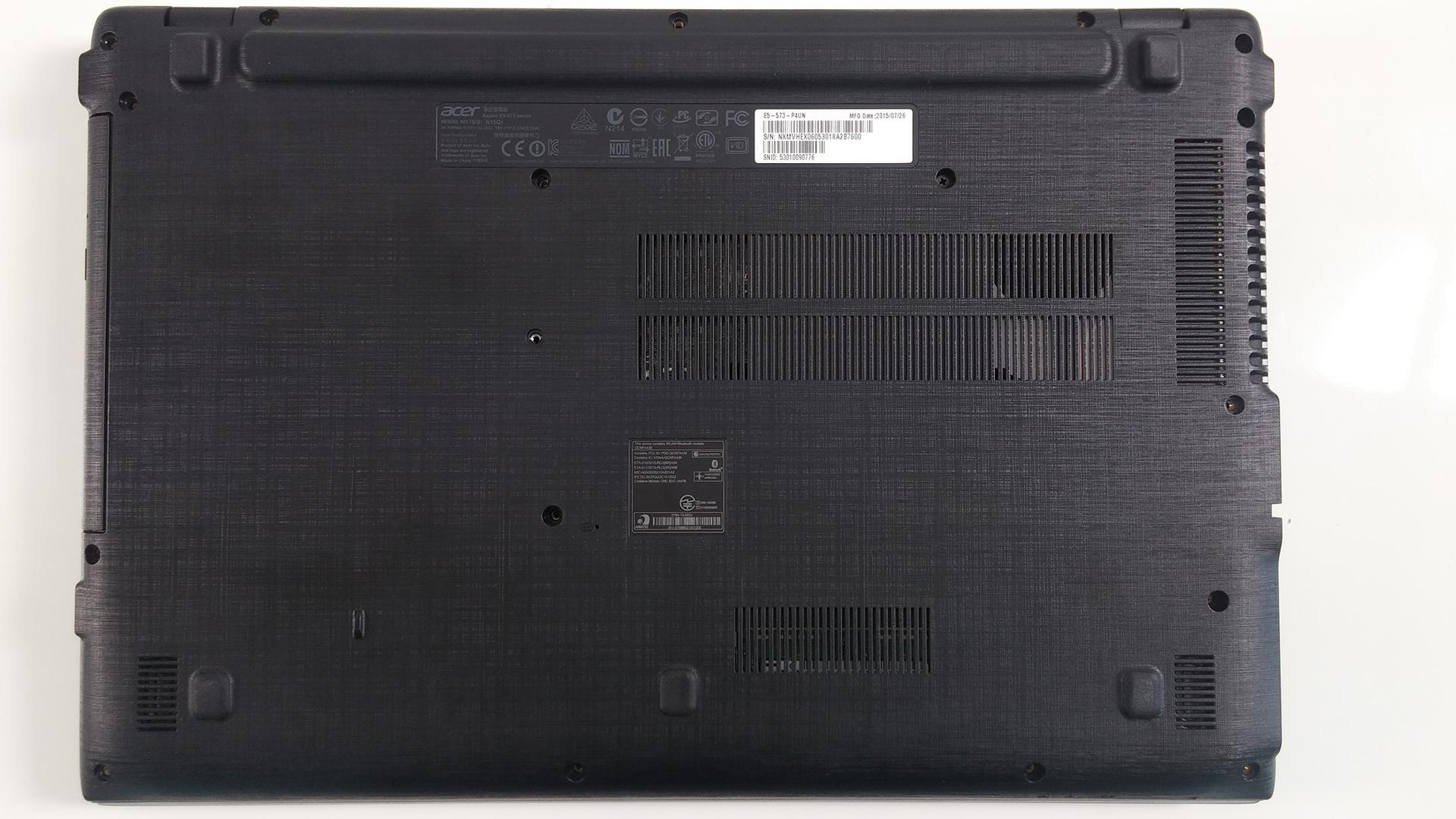 Inside Acer Aspire E15 E5 573 Disassembly Internal