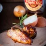 aileron de poulet marinés sirop d'érable et romarin