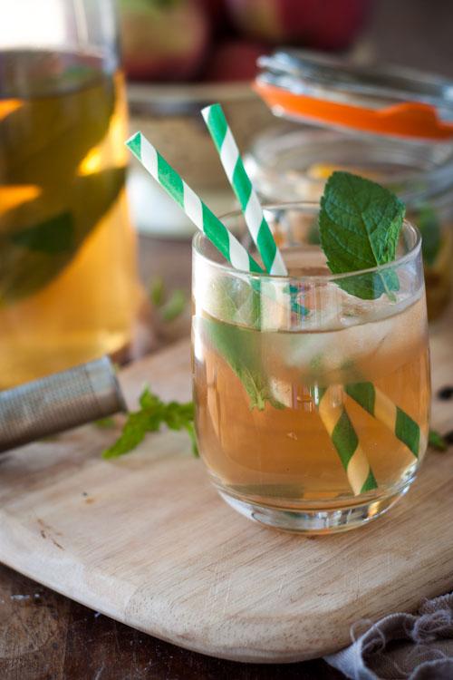 ice tea maison pèche menthe2