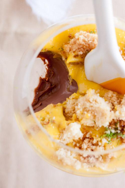 Panna cotta au chocolat curd de mangue et croustillant la noix de coco la raffinerie culinaire - Panna cotta noix de coco ...