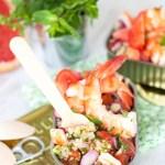 Comme un Taboulé ; Quinoa-Crevettes & Pamplemousse