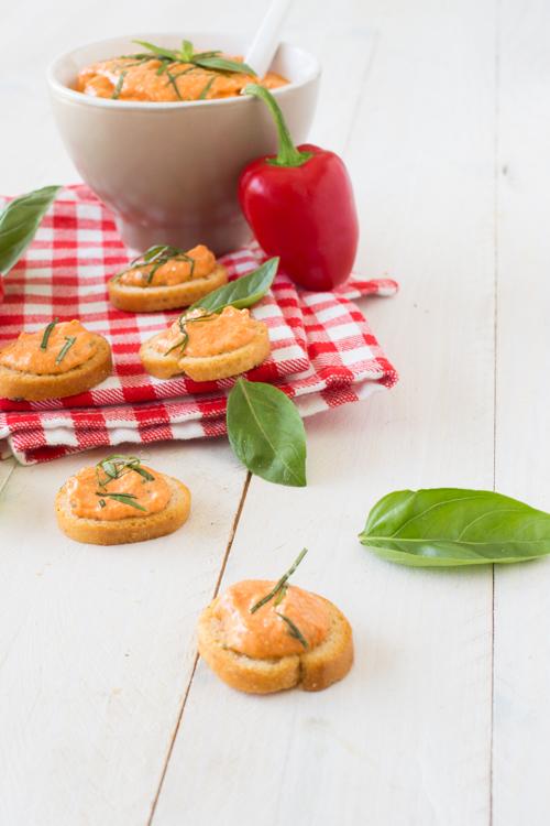 tartinade poivron feta basilic